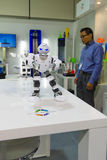 Soporte de la impresora de la matriz 3D de la compañía Foto de archivo