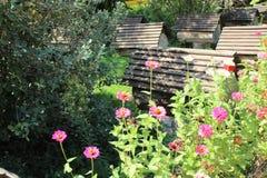 Soporte de las colmenas de la abeja en el jardín Foto de archivo libre de regalías
