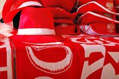 Soporte de los accesorios de las fans del polaco en frente Fotografía de archivo libre de regalías