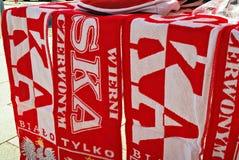 Soporte de los accesorios de las fans del polaco en frente Fotos de archivo