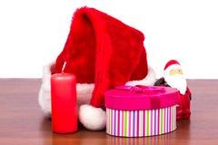 Soporte de los temas del Año Nuevo en una tabla Imagen de archivo libre de regalías