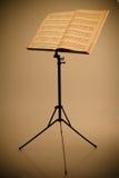 Soporte de música Imagen de archivo libre de regalías