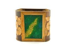 Soporte de madera de la pluma Foto de archivo libre de regalías