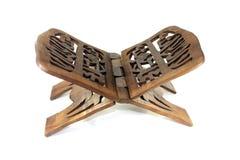 Soporte de madera del Quran Fotos de archivo