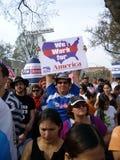 Soporte de muestras de la protesta Foto de archivo
