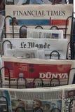 Soporte de periódico Fotos de archivo