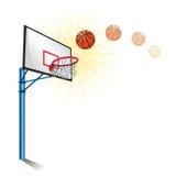 Soporte del baloncesto stock de ilustración