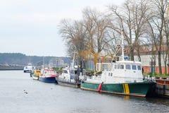 Soporte del barco de motor en una litera Imágenes de archivo libres de regalías