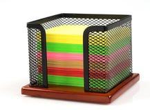 Soporte del cubo de la nota Imagen de archivo