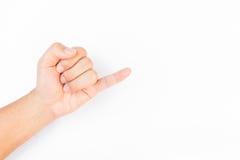 Soporte del dedo meñique Imagenes de archivo