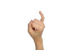 Soporte del dedo meñique imagen de archivo