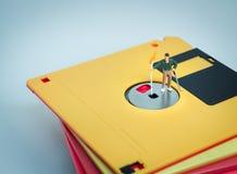 Soporte del golfista en el disquete fotografía de archivo