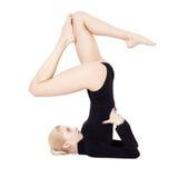 Soporte del hombro del entrenamiento del gimnasta Imagenes de archivo