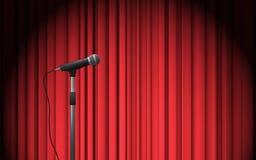 Soporte del micrófono en etapa Foto de archivo