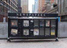 Soporte del papel de las noticias de Chicago Foto de archivo