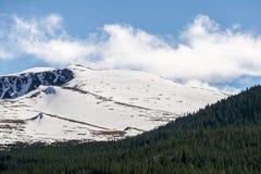 Soporte Evans Colorado - montaña del casquillo de la nieve Fotografía de archivo libre de regalías