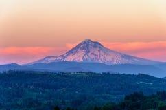 Soporte Hood Sunset Closeup Imagen de archivo libre de regalías