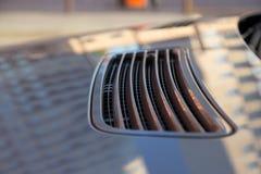 Soporte largo usado del coche de la S-clase S350 de Mercedes-Benz (W221) en un stree fotografía de archivo libre de regalías
