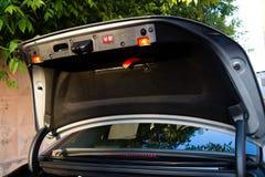 Soporte largo usado del coche de la S-clase S350 de Mercedes-Benz (W221) en un stree Foto de archivo