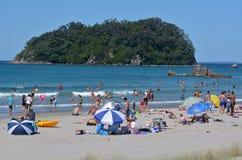 Soporte Maunganui - Nueva Zelanda Fotografía de archivo