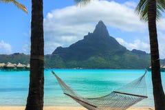 Soporte Otemanu en Bora Bora foto de archivo libre de regalías