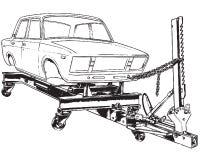 Soporte para la alineación de la carrocería de coche stock de ilustración