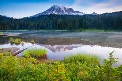 Soporte Rainier Lake Reflection Fotografía de archivo libre de regalías