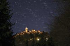 Soporte sagrado de Varese, rastros de la estrella imágenes de archivo libres de regalías