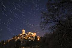 Soporte sagrado de Varese, rastros de la estrella foto de archivo