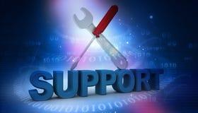 soporte técnico 3d ilustración del vector