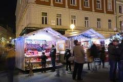 Soportes de recuerdo de la Navidad en Zagreb Fotos de archivo libres de regalías
