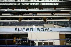 Soportes del Super Bowl XLV del estadio de los vaqueros Imagenes de archivo