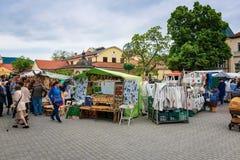 Soportes durante el festival del artesano en Piestany Imágenes de archivo libres de regalías
