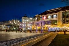 Sopot τη νύχτα Στοκ φωτογραφία με δικαίωμα ελεύθερης χρήσης