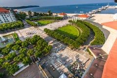 Sopot, Польш-сентябрь 7,2016: Molo пристани Sopot в Польше стоковые изображения rf