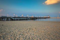 Sopot, Польш-сентябрь 7,2016: Molo пристани Sopot в Польше Стоковая Фотография