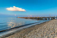 Sopot, Польш-сентябрь 7,2016: Molo пристани Sopot в Польше стоковая фотография rf
