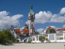 Sopot. An old lighthouse in Sopot, Poland Royalty Free Stock Image