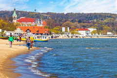 Sopot Baltic beach Stock Images