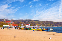 Sopot Baltic beach Royalty Free Stock Image