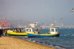 Sopot beach Stock Photography