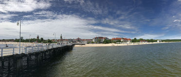 Sopot beach panorama. In Poland Stock Images