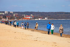 Sopot beach Royalty Free Stock Photo