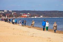 Sopot beach Royalty Free Stock Photo