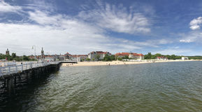 Sopot beach. In Poland Europe Royalty Free Stock Photos