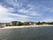 Sopot beach. In Poland Europe Stock Photography