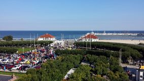 Sopot from bird`s eye view, Poland Stock Photography