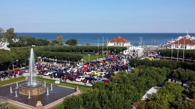 Sopot from bird`s eye view, Poland Royalty Free Stock Photography