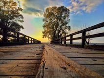 Sopot Bridge. Bridge at Sopot near Vinkovci (Croatia stock photography