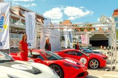 Sopot. Exhibition of Ferrari. Sopot, Poland - August 1, 2015: Exhibition of Ferrari sports car in the resort town of Sopot August 1, 2015 Stock Image